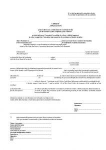 Cerere certificat rezidenta fiscala