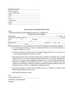 Declaratie indemnizatie zilieri